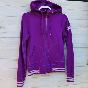 Lululemon hoodie 8 cotton blend violet